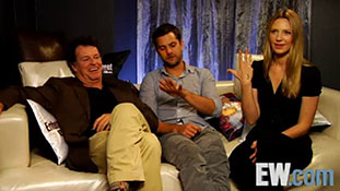 Anna Torv, John Noble and Joshua Jackson - EW 2008
