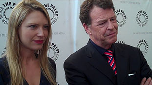 Anna Torv (Olivia Dunham) and John Noble (Walter Bishop) from Fringe