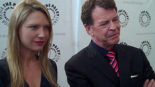 Anna Torv (Olivia Dunham) and John Noble (Walter Bishop) from Fringe