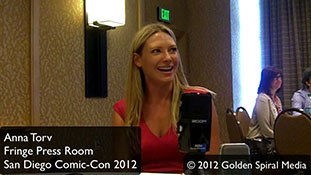 Fringe  Press Room Anna Torv Comic Con 2012