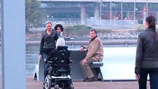 Fringe films a scene for episode 5X07 with Olivia, Nina, Walter -u0026 Asteroid.mp4-00027