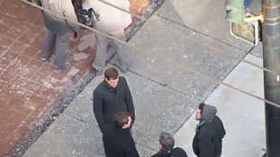 Fringe on set - Joshua Jackson Dancing in the Cold.mp4-00020