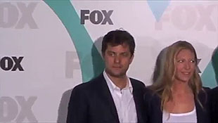 Nigel Lythgoe David Boreanaz and Randy Jackson Arrive At 2012 Fox Upfront