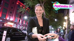 Anna Torv & Rebecca Mader greet fans departing Catch Me If You Can in Hollywood