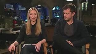 Anna Torv and Joshua Jackson of Fringe on Polivia and Altlivia Fox 5 San Diego.mp4-00001