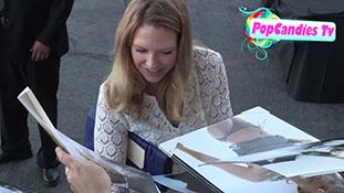 Anna Torv greets fans at 2013 Saturn Awards in Burbank