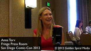 Fringe  Press Room Anna Torv Comic Con 2012