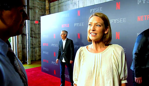 Anna Torv Mindhunter at Netflix FYSEE red carpet interview GOLD DERBY