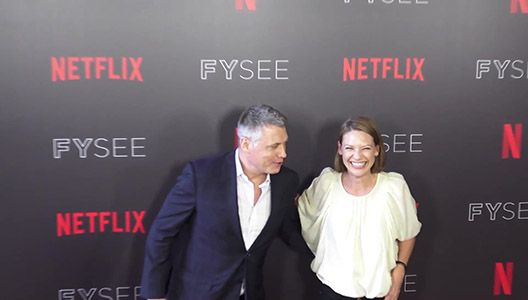 Holt McCallany and Anna Torv at the Mindhunter FYC Event at Raleigh Studios in Hollywood